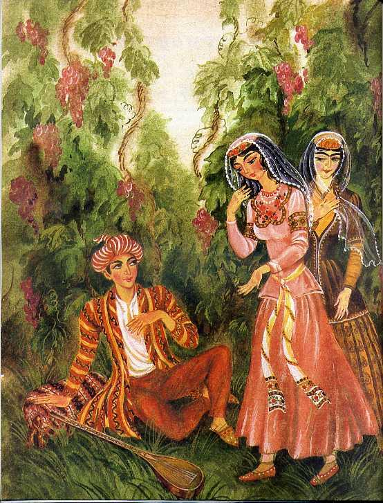 Солдат и царица иллюстрации к сказке